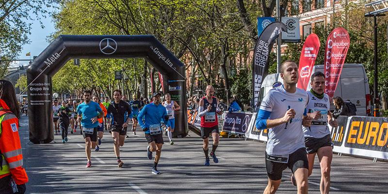 arco meta media maraton madrid