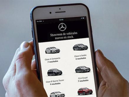 exposicion virtual. showroom Mercedes