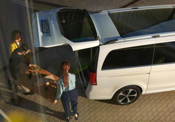 EQV furgoneta electrica Mercedes Benz capacidad carga