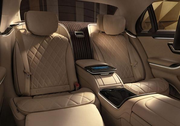 Mercedes Clase S asientos traseros