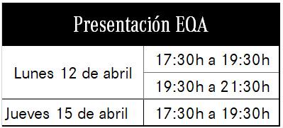 horario EQA
