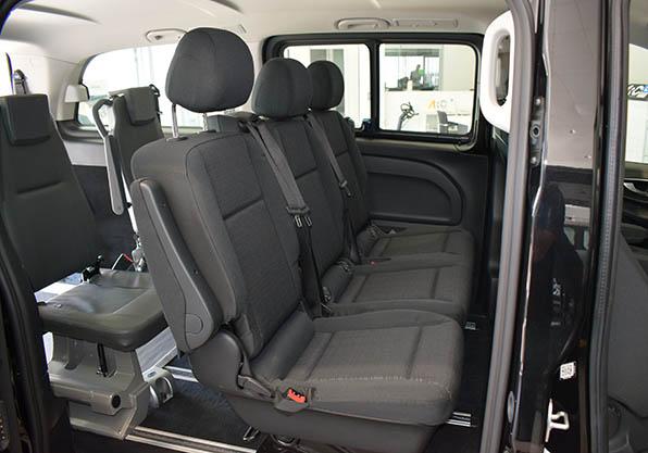 vito pasajeros adaptada configuracion asientos traseros