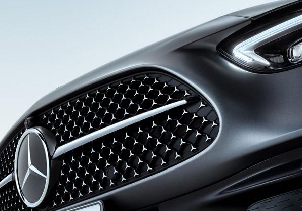 Mercedes clase c frontal parrilla