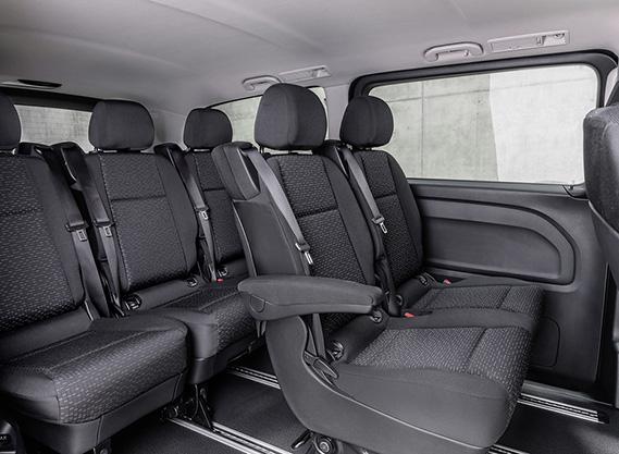 asientos furgoneta eléctrica Mercedes