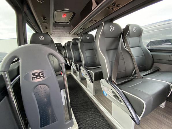 microbus Mercedes Benz sidney disponible madrid asientos