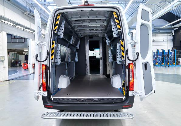 Interior personalizable Sprinter Electrica furgoneta mercedes