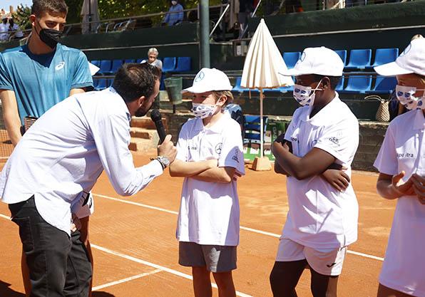 recogepelotas torneo tenis guillermo beltran